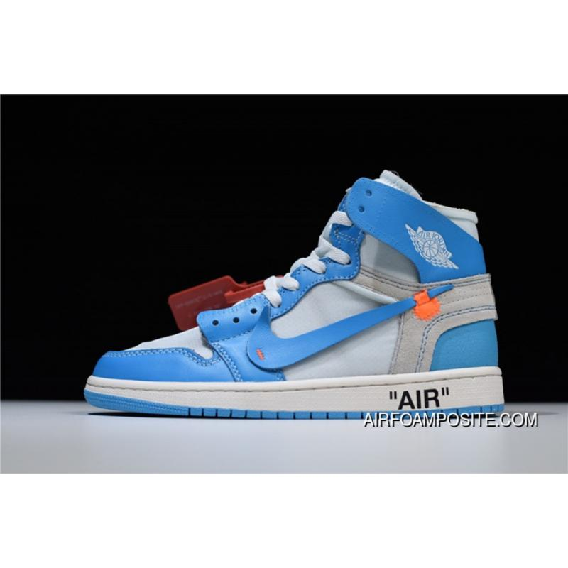 USD  90.47  262.36. HyxAir Jordan White Air 1 OW White Blue North Carolina  Blue Collaboration ... 67983f158
