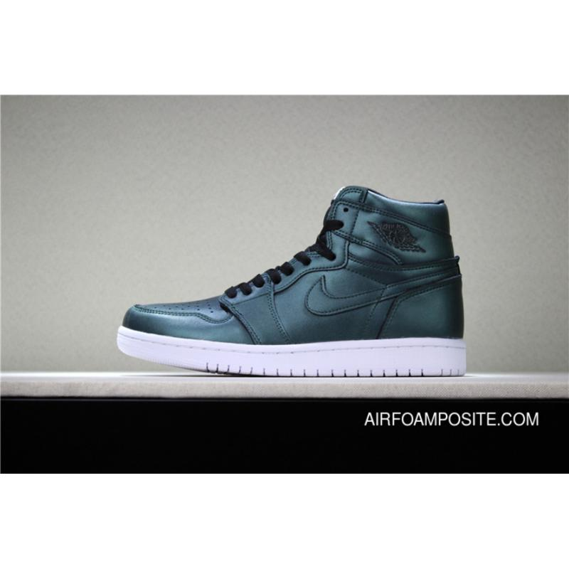7792fecce33 Air Jordan 1 Cyber Monday Black Green Chameleon 555088-006 Women Men ...