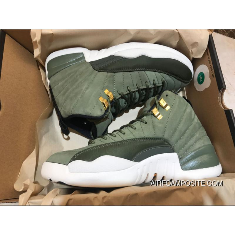 bd3599fa5c7 Air Jordan 12 FULL GRAIN LEATHER New He Green Men Shoes Size All ...