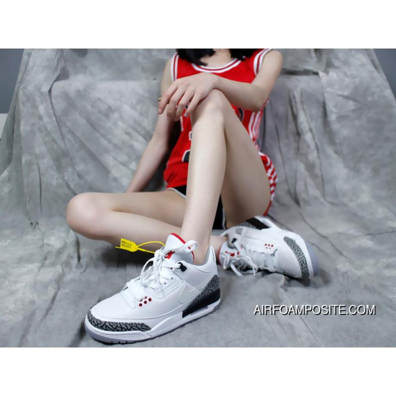 wholesale dealer acf27 bca57 Nike Air Jordan 3 Retro JTH NRG AV6683-160 Tinker Hatfield Draft White  Cement Burst AJ3 3 Cattle FULL GRAIN LEATHER Litchi GRAIN LEATHER Upper  Delicate ...
