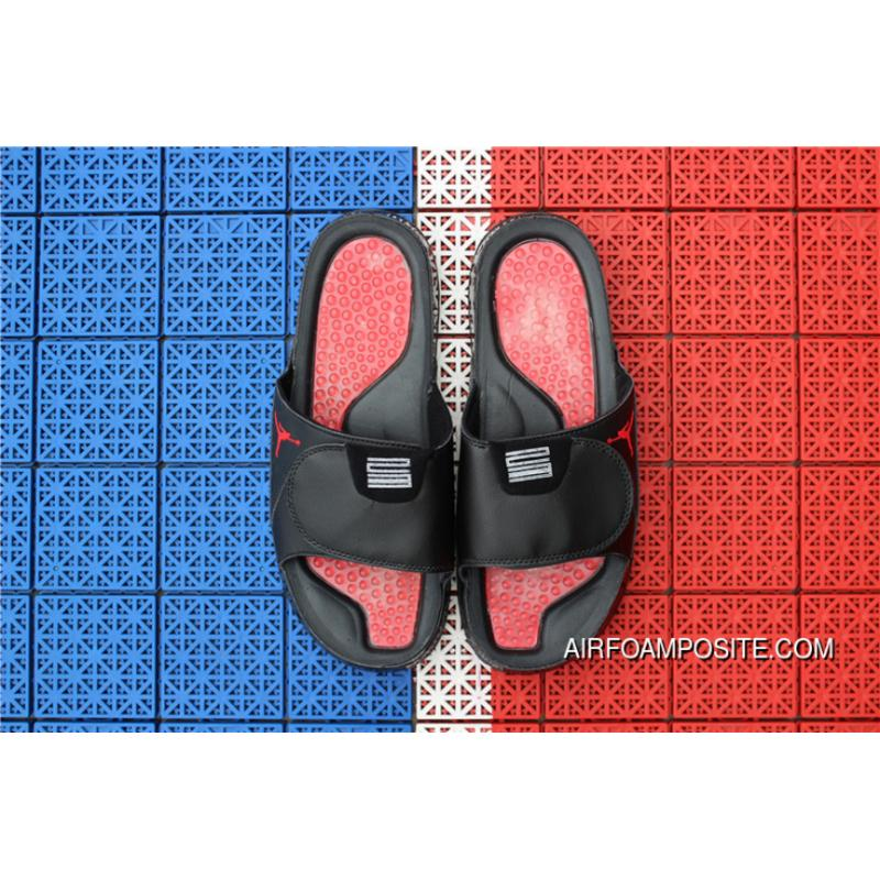 eb4ffeab4b58c3 USD  73.09  182.72. Air Jordan Hydro 13 Sandals Slides Black Red ...