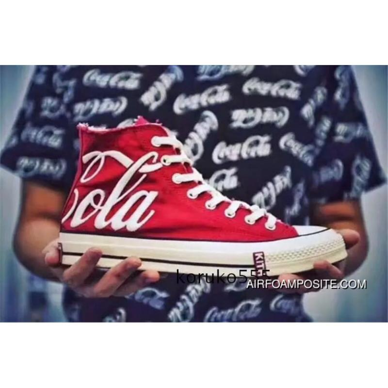5f7808d457b0 KITH X Coca-cola X Converse 6 Red High Top Sneakers New Release ...