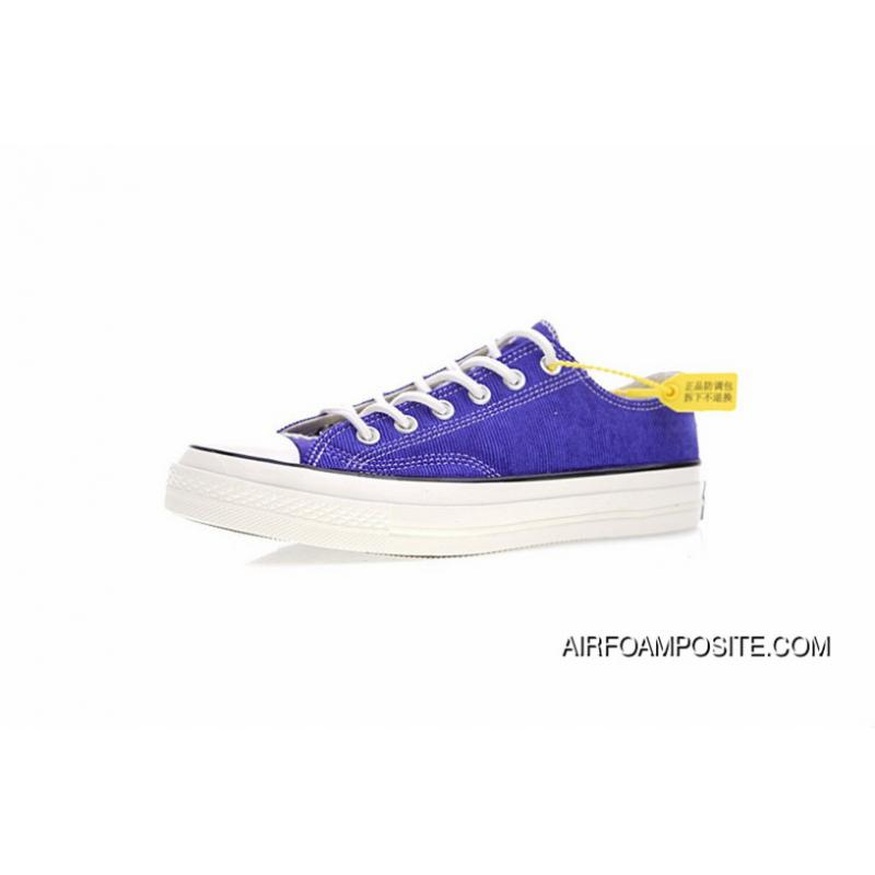 906d81118cfd95 French Blue Attune Simplified NBHD Converse Chuck Taylor All Star 70 OX  French Workwear Low Canvas Vulcanized Sneakers Corduroy Patch Blue 158605 C  New Year ...