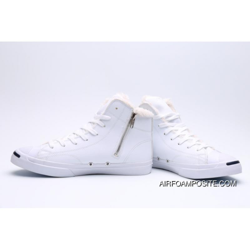 24c35c6ff253 ... Epic Converse Jack Purcell Purchell Zipper And Wool Production Limited  High Quality FULL GRAIN LEATHER White ...