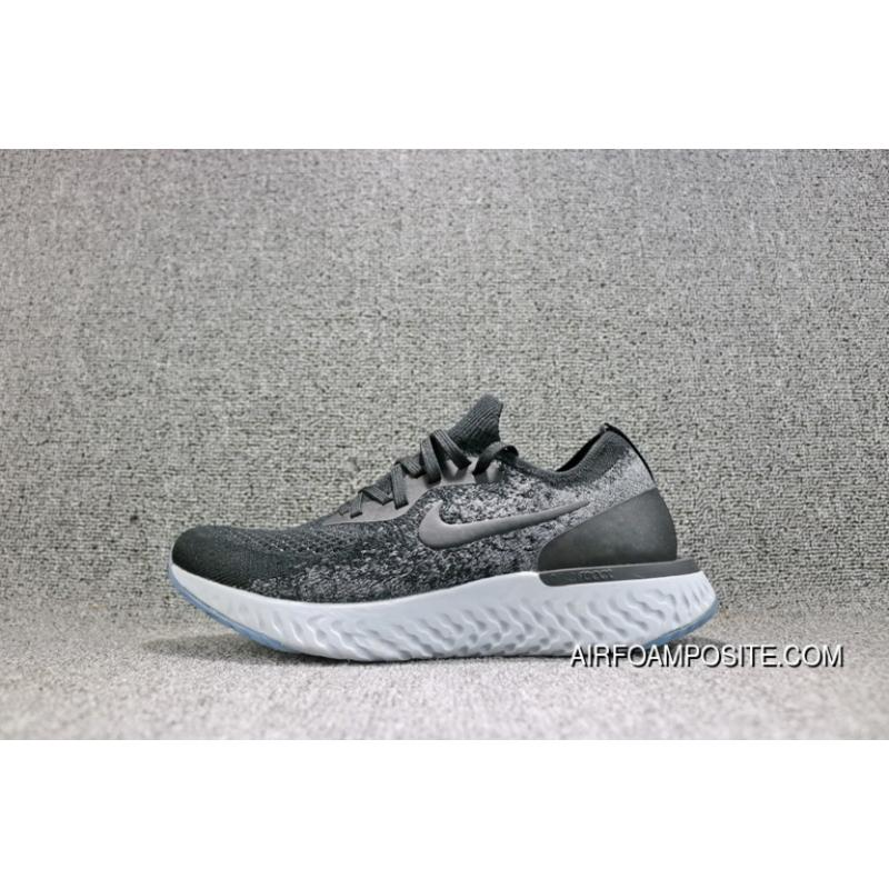 8bfa86c60a4f Best Nike Epic React Flyknit Foamposite Woven Black White Light Casual  Running Shoes Women Shoes And ...