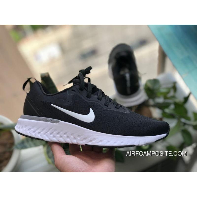 newest 21e76 a0152 NIKE Foamposite 2.0 Black WHite ODYSSEY REACT The REACT The REACT 2 2.0  Super Technology Strong Rebound Foam Outsole Woven Breathable Surface  Ao9819-001 ...
