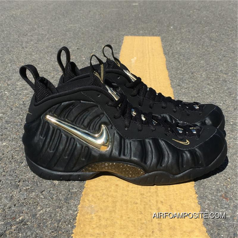 quality design 23d04 0fff5 ... Nike Air Foamposite Pro Black Metallic Gold Black Gold Bubble Is  624041-009 Outlet