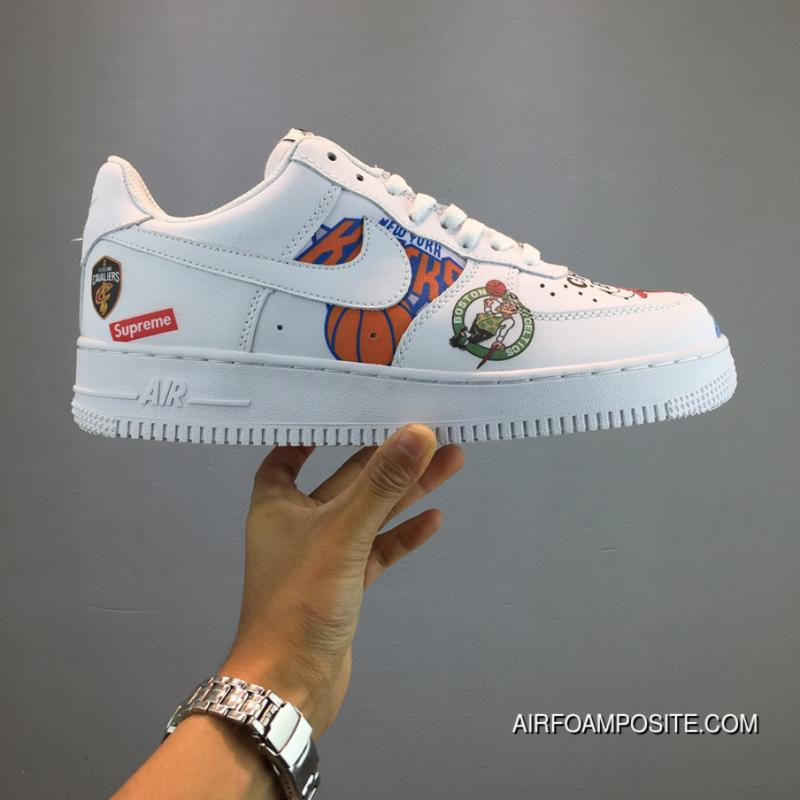 Nike Aq8017 Collaboration Force Af1 Limited White Sneakers Black 100 Supreme Air Latest Nba 6yb7vfgY