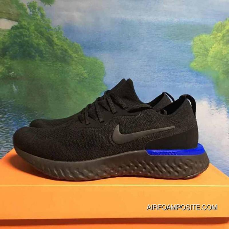 Best Have The Nike Epic React Flyknit Foam Particles AQ0067Black Blue Treasure