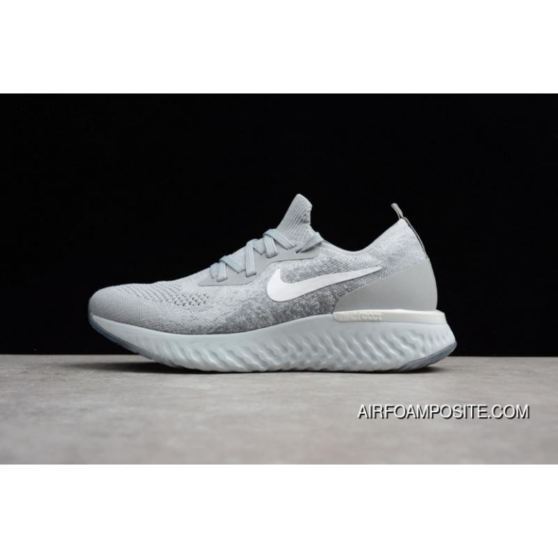 Nike Epic React Flyknit React 50 Super Running Shoes Foamposite Particles Woven Running Shoes High Quality AQ0067002 Best