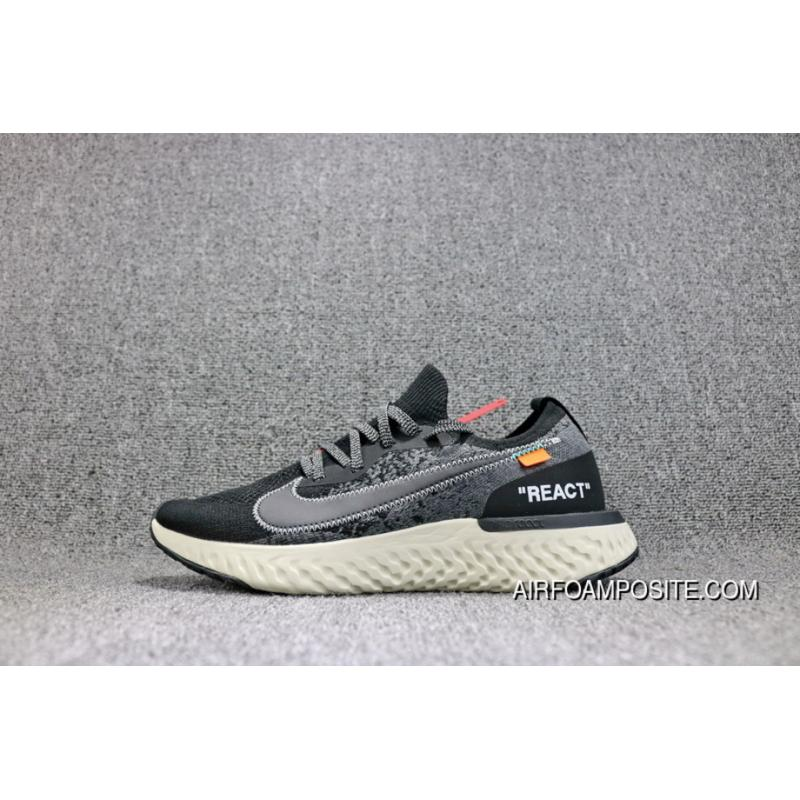 44599f59e572 USD  90.25  225.61. OFF-WHITE XNike Epic React Flyknit Nike Foamposite  Woven Collaboration Publishing Light Casual Running Shoes ...