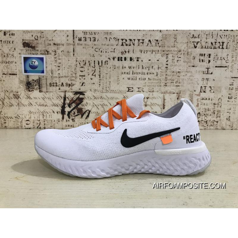 b979d1e0d USD  88.34  273.87. Latest Nike React Collaboration EPIC React FLYKNIT X OFF -WHITE ...