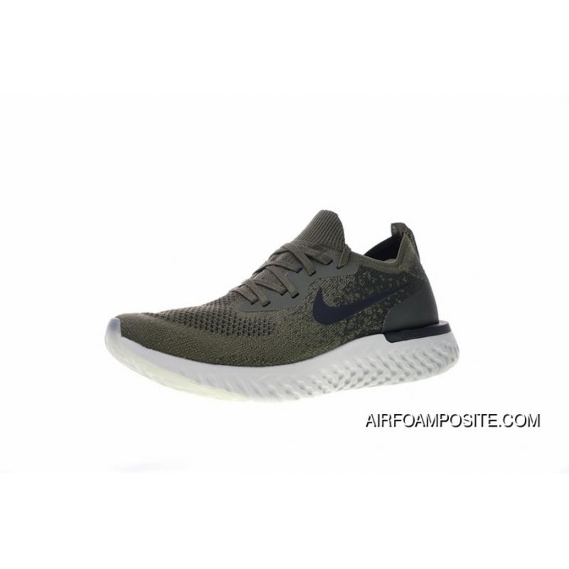 Women Shoes And Men Shoes Nike Epic Foot Feeling 18 Ss React Flyknit Foam  Particles Knit Super Light Quantity Jogging Shoes Olive Green Black AQ0067- 300 ... 7c0b0c231e