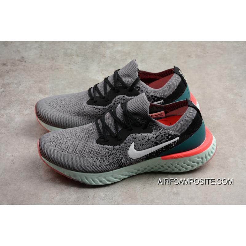 a56d3dca27fb ... norway p16 nike epic react flyknit foamposite woven light casual running  shoes grey green aq0067 010