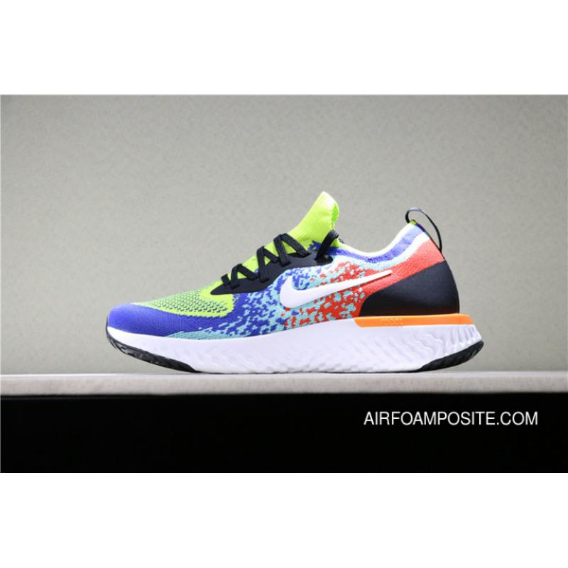 f540f1395c68 USD  87.89  254.88. Nike Epic React Flyknit Cushioning Technology Woven  Foamposite Particles React Running Shoes Series SKU AQ0067 ...