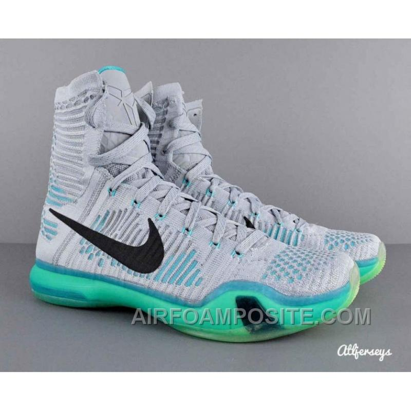 newest a37cd 110bb ... Hot Nike Kobe 10 Elite Basketball Shoes Elevate Wolf Grey White Light  Retro ...