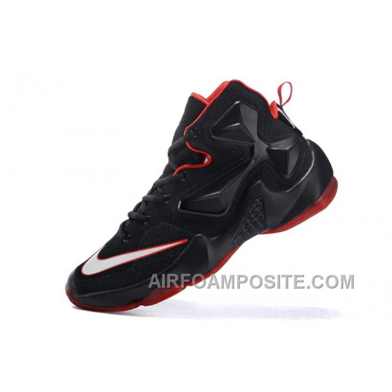 buy online 356b4 cd444 Women Nike LeBron 13 Basketballl Shoes Black Red For Sale RXxzj