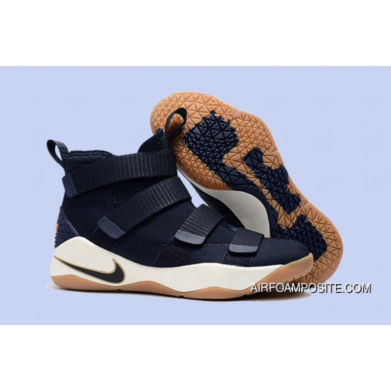 7aae0e78a5b USD  89.46  287.86. 2017 Nike LeBron Soldier 11 Cavs Midnight Navy Metallic  Gold Discount ...