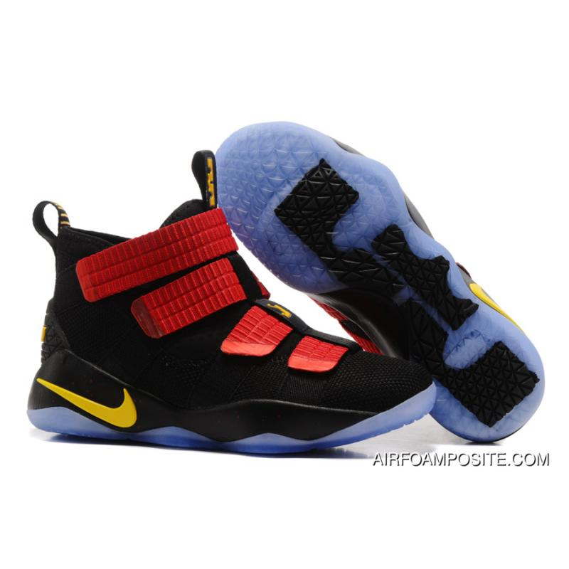84a14295b3e USD  89.51  268.59. 2017 Nike LeBron Soldier 11 Black Red-Gold ...
