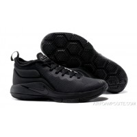 save off 6f2d3 488b8 Nike LeBron Zoom Witness 2 Triple Black Basketball Shoes Discount
