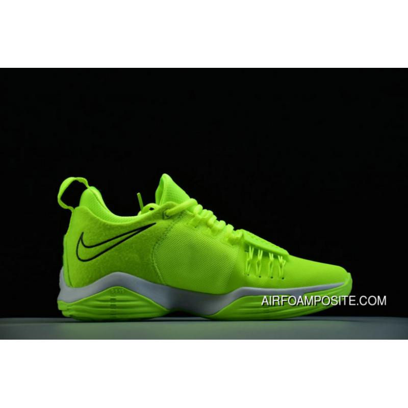 42361d9eff1f Nike Pg 1 Volt Black White 878628 700 Basketball Shoes For Sale . ...