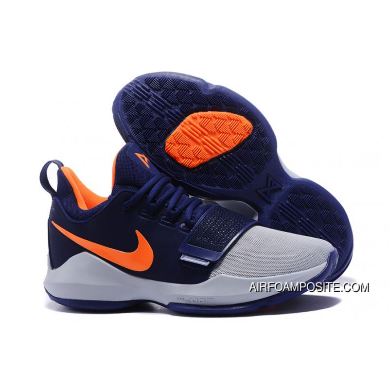 low priced 26321 abe79 Nike Zoom PG 1 Navy Blue/Wolf Grey/Orange Free Shipping