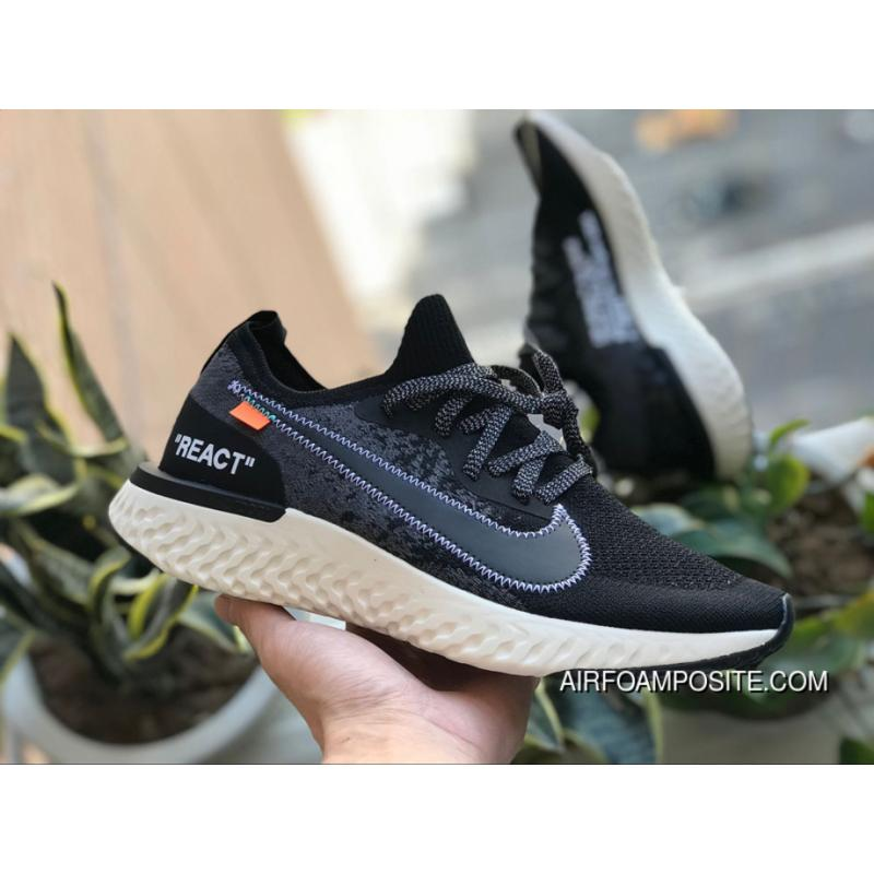 5ba7f7a80e1a USD  89.96  260.90. Ow Collaboration React Foamposite OFF-WHITE X Nike Epic  React Flyknit Foamposite Woven Black ...