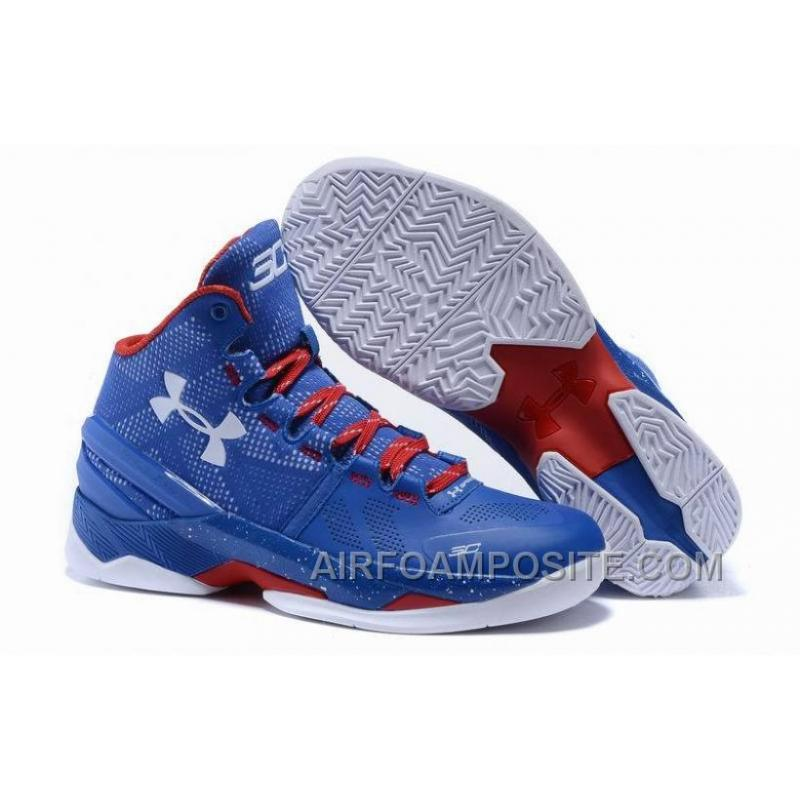 buy popular ed4cc c708a Under Armour UA Curry 2 Two Royal Blue Red And White T55Ph