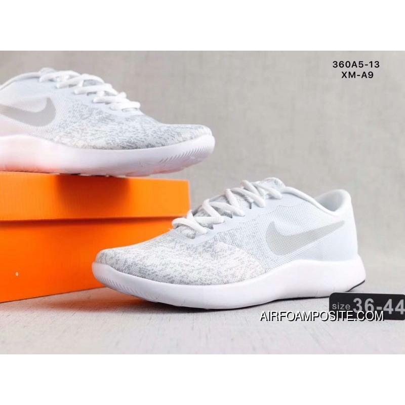 e1cdffd9aeef9 ... 2018 Light-weight Mesh Running Shoes Nike REACT EPIC FLYKNIT Women All  White New Style ...