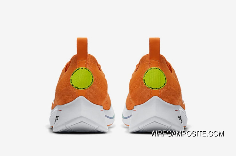 b8cf7c2d4a4f Off-White X Nike Zoom Fly Mercurial Flyknit OW AO2115-800 Orange 2018 Russia