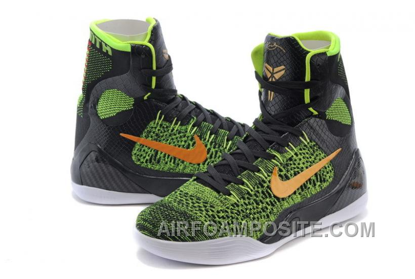 "70c6ee49b01 Nike Kobe 9 Elite ""Restored"" High Tops Black Volt-Anthracite-Gold ..."