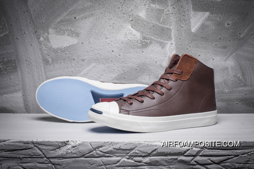 bccd34ad869c CONVERSE Jack Purcell LP L S Thin Bottom Leather Purchell Brown High 154146  C Super Deals
