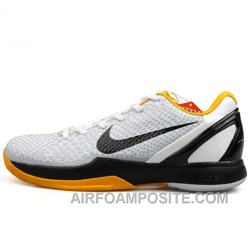 check out 2674e 67d02 Online Nike Kobe VIII 8 Zoom Low White Black Yellow Shoes