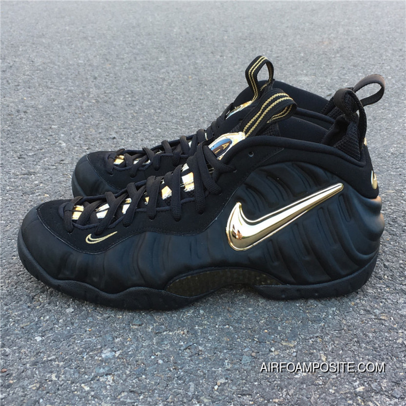 80d62dc3ba0 Nike Air Foamposite Pro Black Metallic Gold Black Gold Bubble Is 624041-009  Outlet