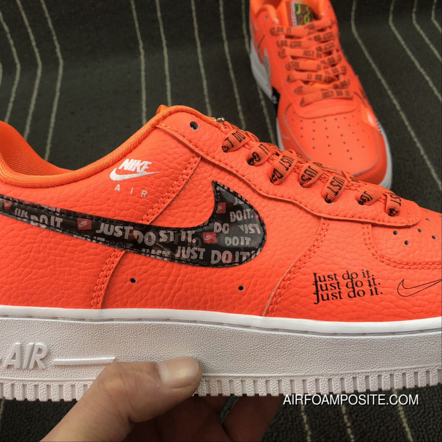 Nike Air Force 1 Low Just Do It AR7719 800 Orange Sneaker