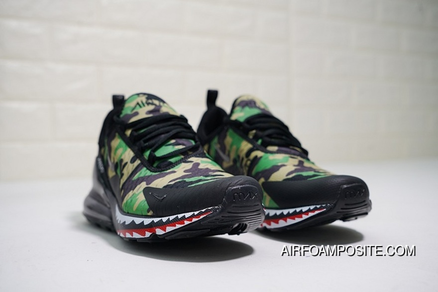 069acdef6988 Creative Customized Japanese Camo Bape A Bathing APE X Nike Air Max 270  Series Heel Half