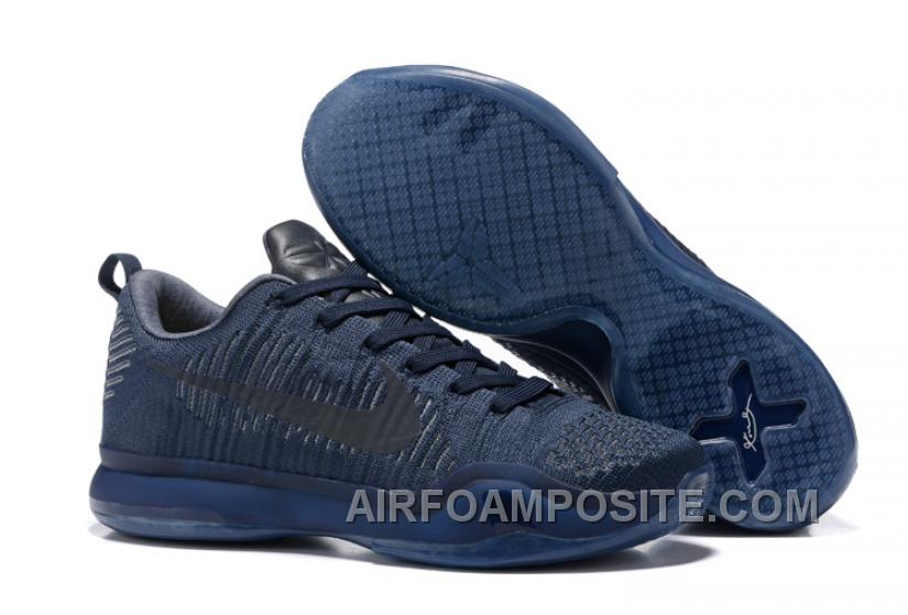 "brand new e6657 85936 2017 Nike Kobe 10 Elite Low FTB ""Black Mamba"" Mens Basketball Shoes Discount"