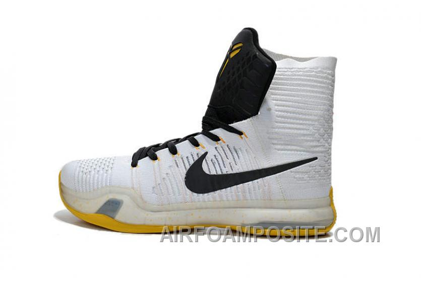 super popular cecb2 e705e Nike Kobe 10 Elite Basketball Shoes White Black Yellow New, Price ...