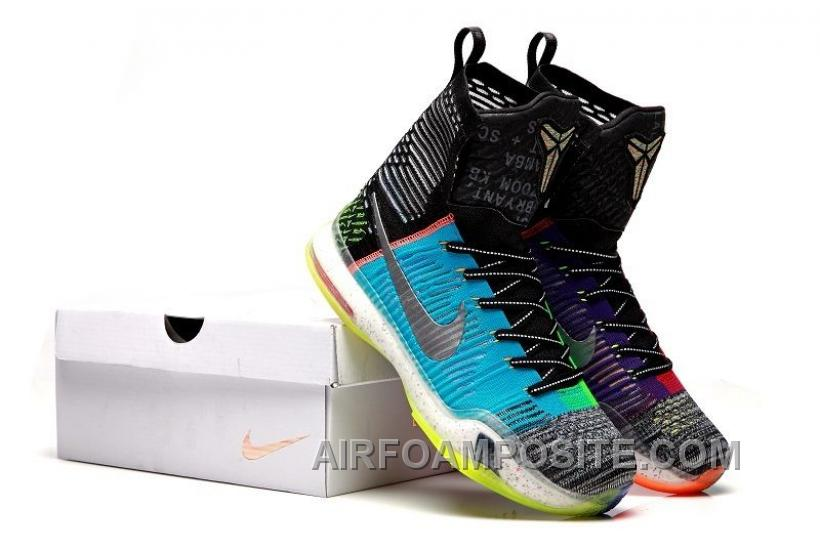 "f2b03853def1 Nike Kobe 10 Elite High SE ""What The"" Multi-color/Reflective Silver ..."