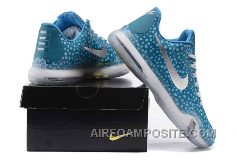 best sneakers 53c51 052ad Kobe 10 Safari Print Light Blue Silver For Sale New Arrival