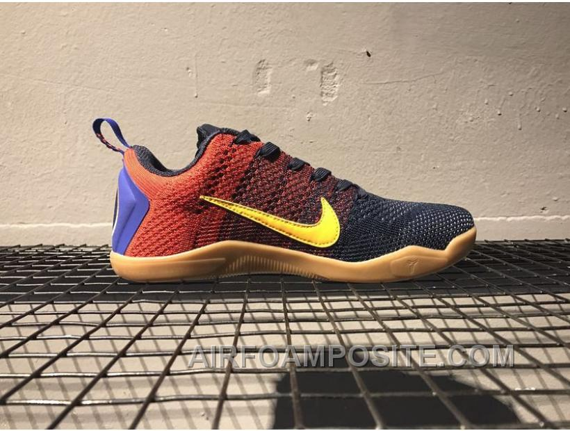 NIKE KOBE XI ELITE FCB Kobe 11 BARCELONA 44130-464 ZOOM Blue Red Cheap 82f52667a7e8