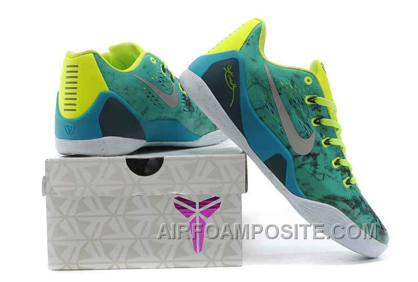another chance 13f6a f1d84 Cheap Authentic Nike Kobe 9 EM Easter Turbo Green Metallic Silver-Volt-Black  646701