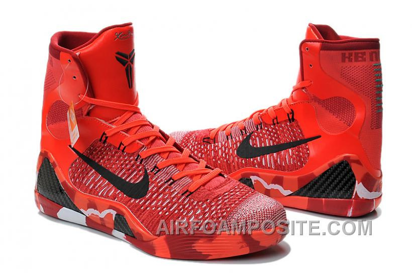Kobe 9 Elite Christmas.Nike Kobe 9 Elite Christmas High Top Crimson Red Online