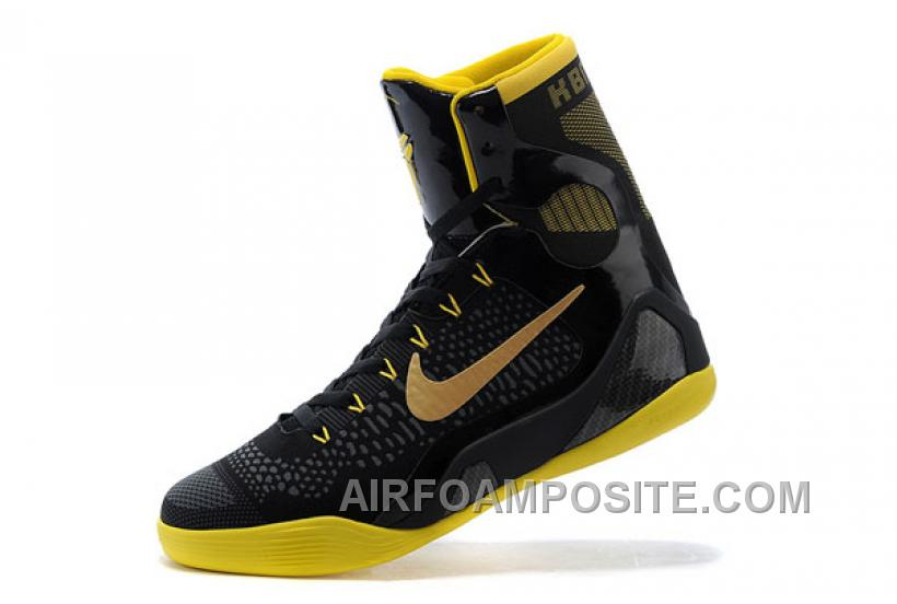 info for 32178 bd61c Nike Kobe 9 Elite Black Yellow Hot