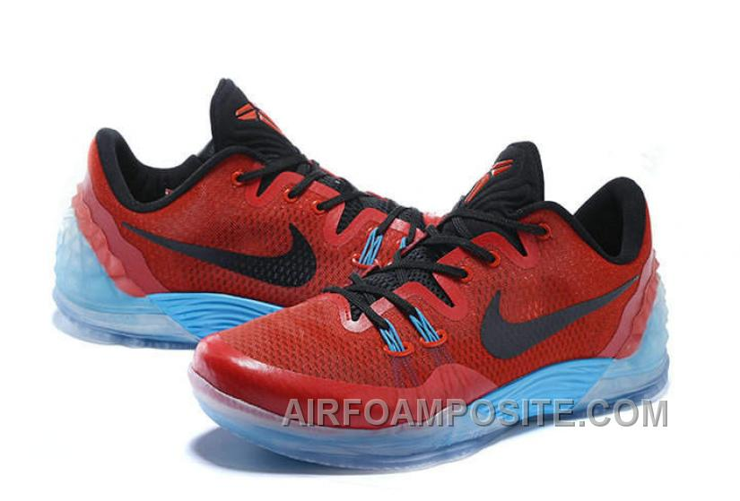 official photos 7d150 565d6 Cheap Nike Zoom Kobe Venomenon 5 Basketball Shoes Red Black Soft Blue