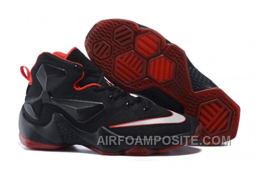 free shipping 24607 fb6e0 Lebron 13 XIII Low Bred Black University Red ABtTz