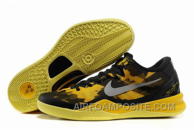 finest selection d91a6 44cc0 854-215553 Nike Zoom Kobe 8 VIII Shoes Official Black Yellow New Arrival