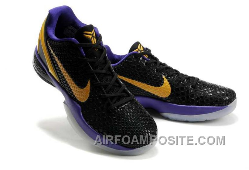 bca73d7f3d53 Hot Nike Zoom Kobe Vi Mens Black Purple Gold