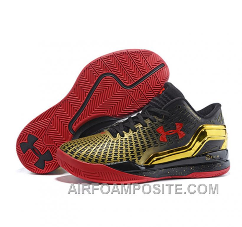 Under Armour ClutchFit Drive Low Stephen Curry Shoes Gold Black Red WdJHP 7afdb8ac742a