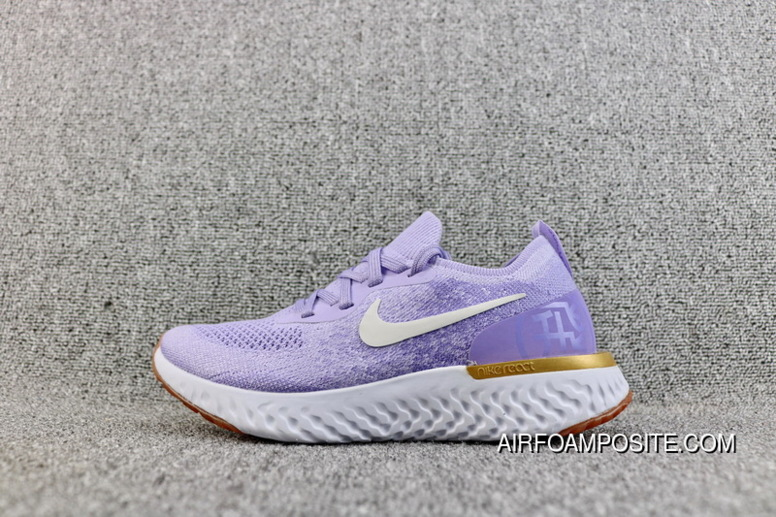 30af0364f90b Super Deals Nike Epic React Flyknit Foamposite Woven Light Casual Running  Shoes Purple Women Shoes AQ0067